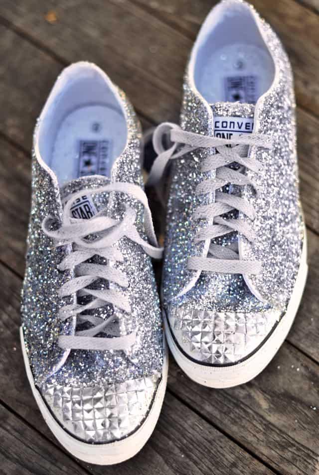 Diy glitter sneakers