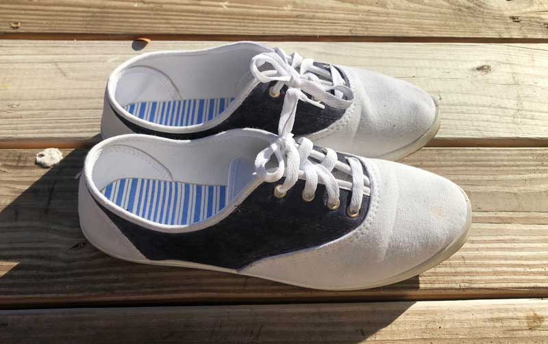 Diy saddle shoes sneakers