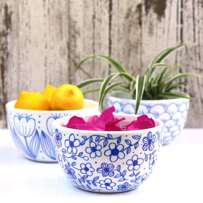 Diy sharpie bowls