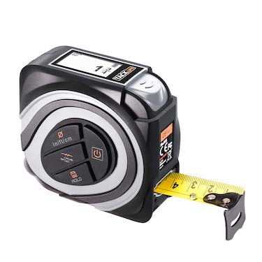 Digital tape measure 16ft m:in:ft rechargeable with large backlit lcd
