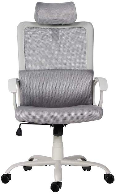 Ergonomic office desk chair computer task chair with adjustable headrest by smugdesk