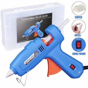 Full Size Hot Glue Gun with Carrying Box and 20 Pcs Glue Sticks