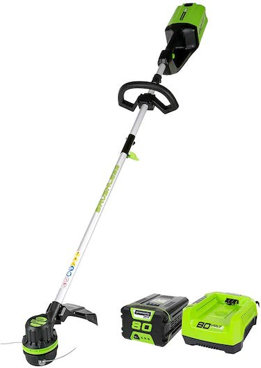 Greenworks st80l210 80v string trimmer, 2 0ah battery & charger included