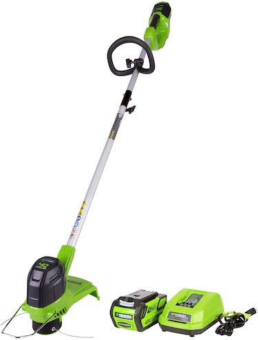 Greenworks 12 inch 40v cordless string trimmer, 2 0 ah battery included 2101602