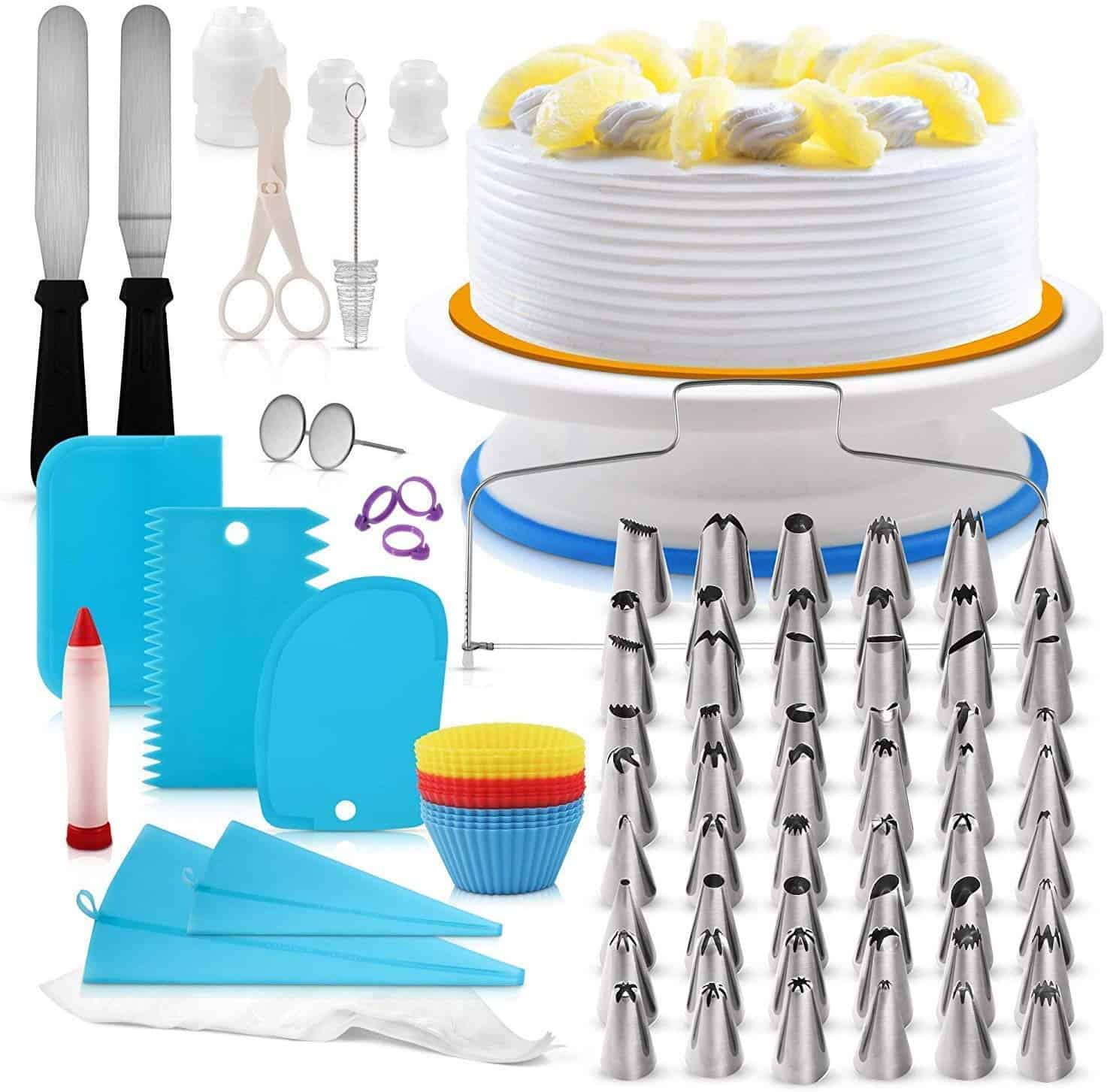 H3 innovations 118 piece cake decorating kit