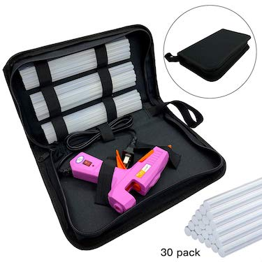 High temp heavy duty hot melt glue gun kit with 30pcs glue sticks
