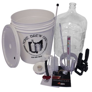 Home brew ohio rl wkz2 0ijs gold complete beer equipment kit (k7) with 5 gal glass carboy