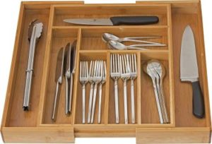 Home-It Expandable Bamboo Utensil Dividers