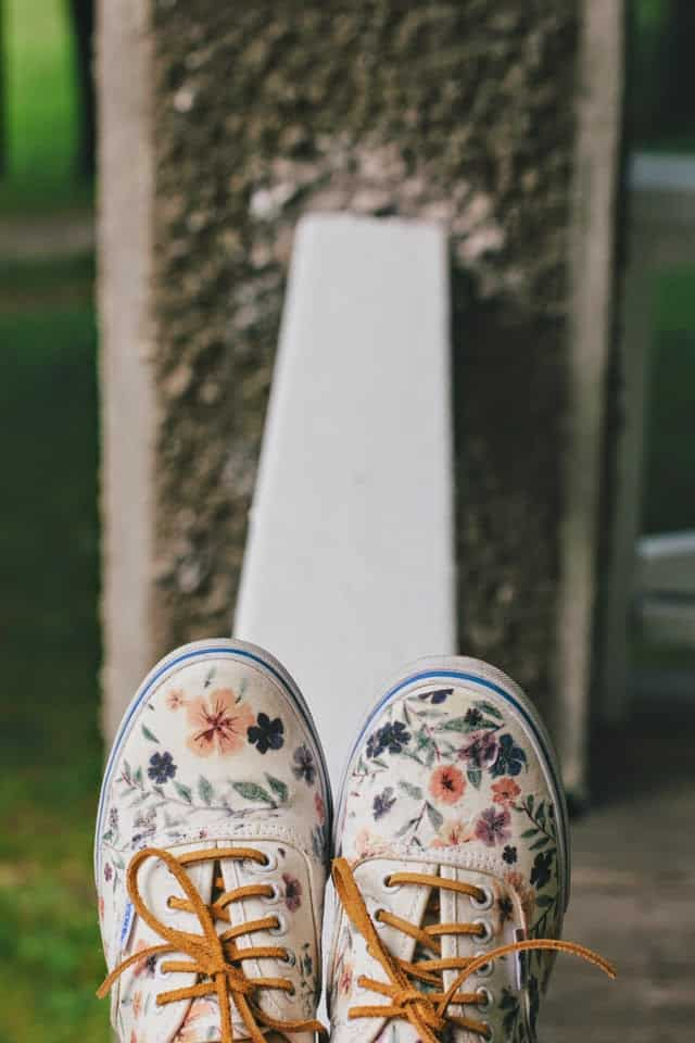 Iron paper photo transfer canvas shoes