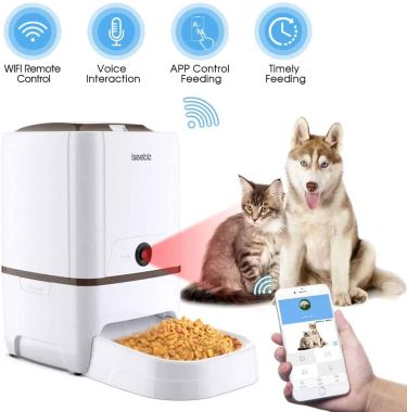 Iseebiz automatic pet feeder and camera