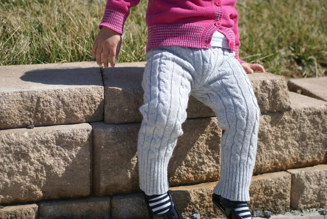 Kids' leggings from an old sweater