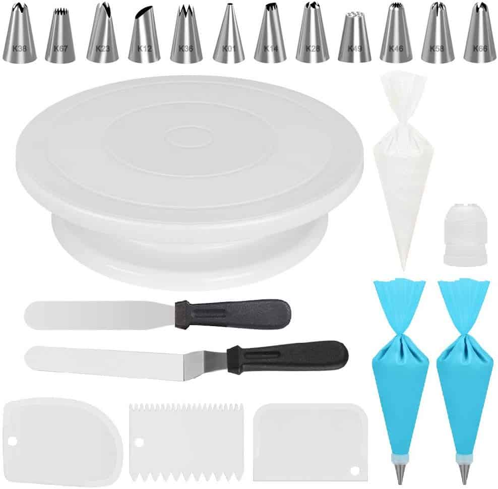 Kootek cake decorating kit with turntable