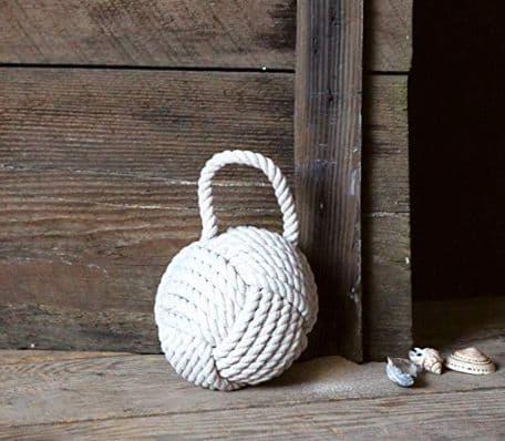 Nautical rope knot cotton door