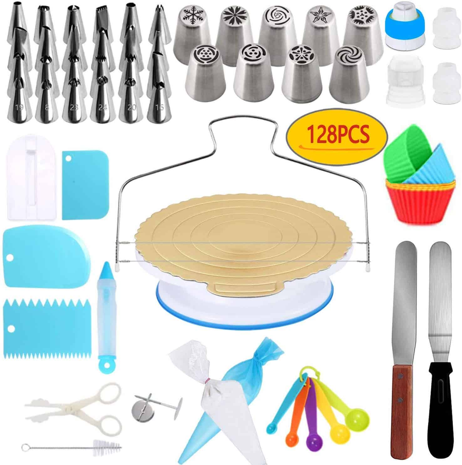 Nisam 128 piece decorating kit