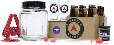 Northern brewer all inclusive gift set 1 gallon homebrewing starter kit with recipe (chinook ipa)