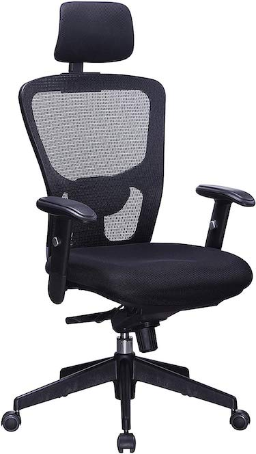 Office factor black mesh high back executive office chair