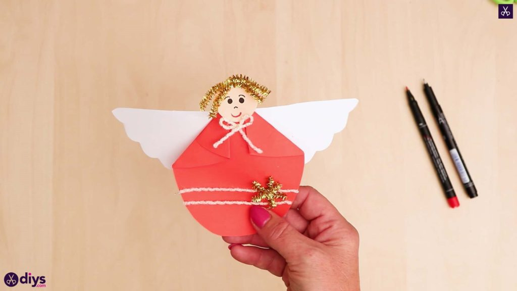Paper angel kids craft
