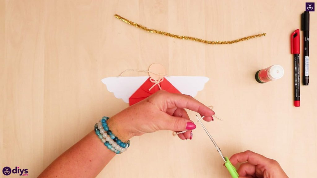 Paper angel kids craft rope 1