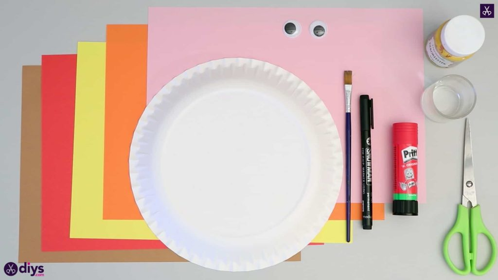 Paper plate scarecrow materials