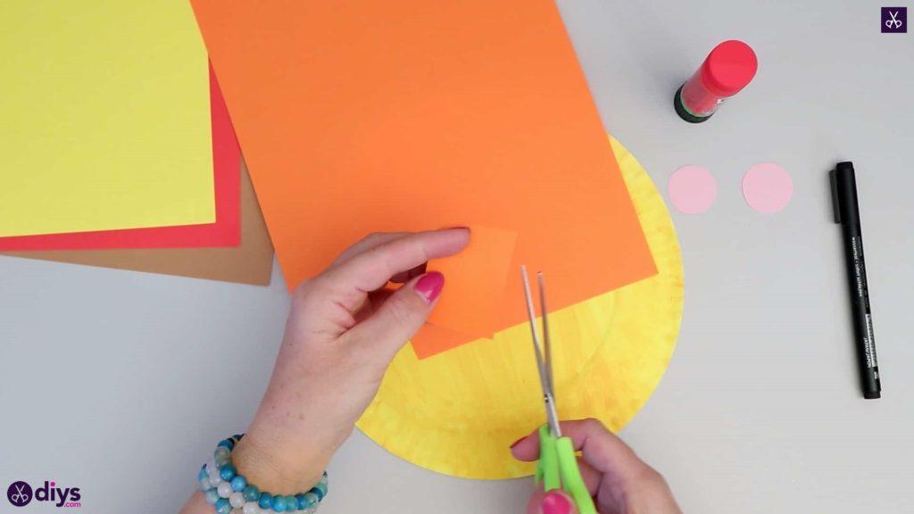 Paper plate scarecrow orange paper