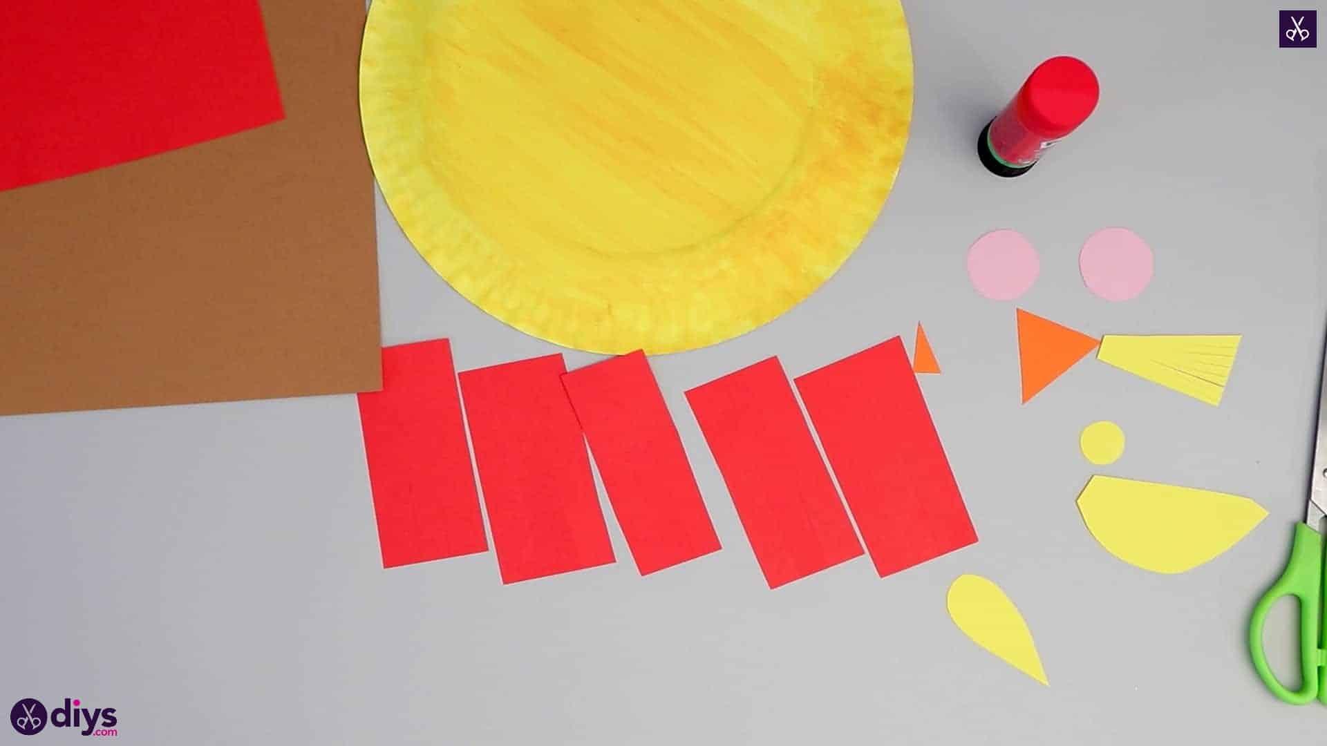 Paper plate scarecrow rectangluar pieces