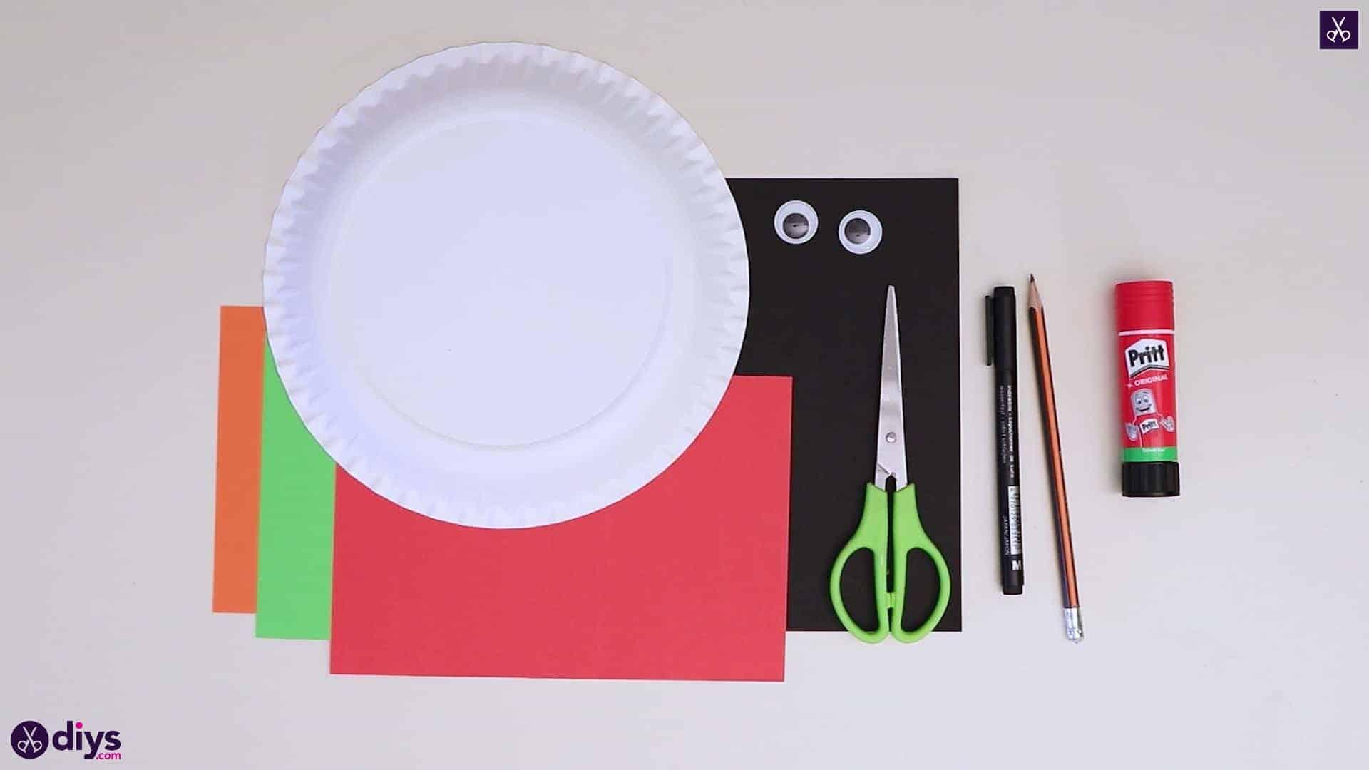 Paper plate snowman head materials