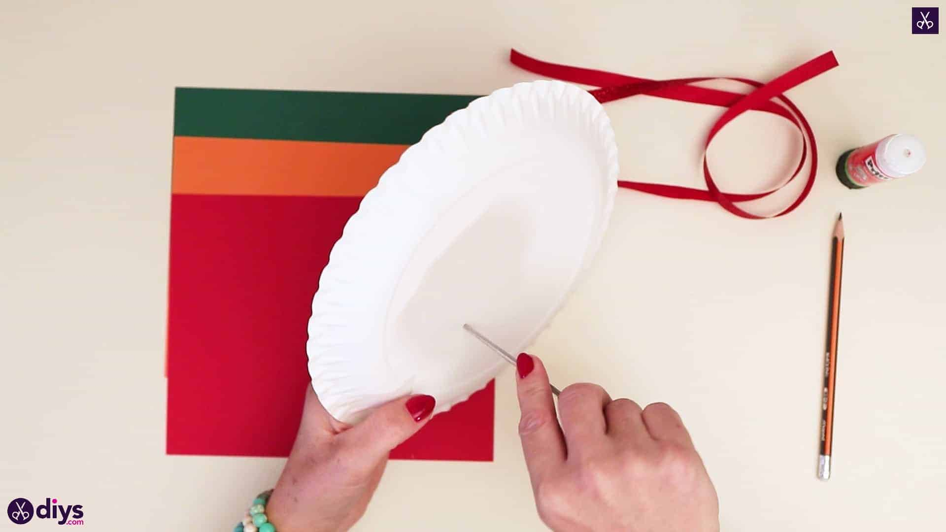 Paper plate wreath with a candle hole