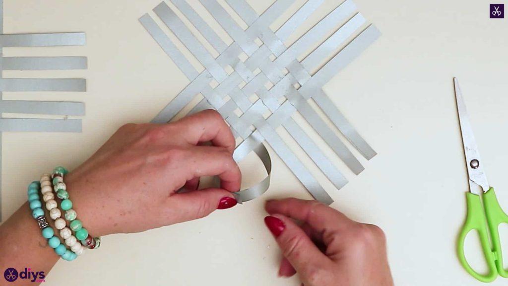 Paper star ornament glue all