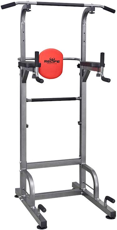 Power tower workout dip station