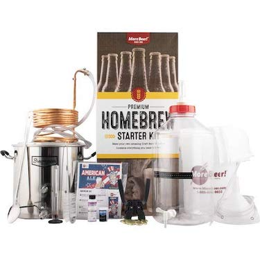 Premium homebrewing starter kit by morebeer!