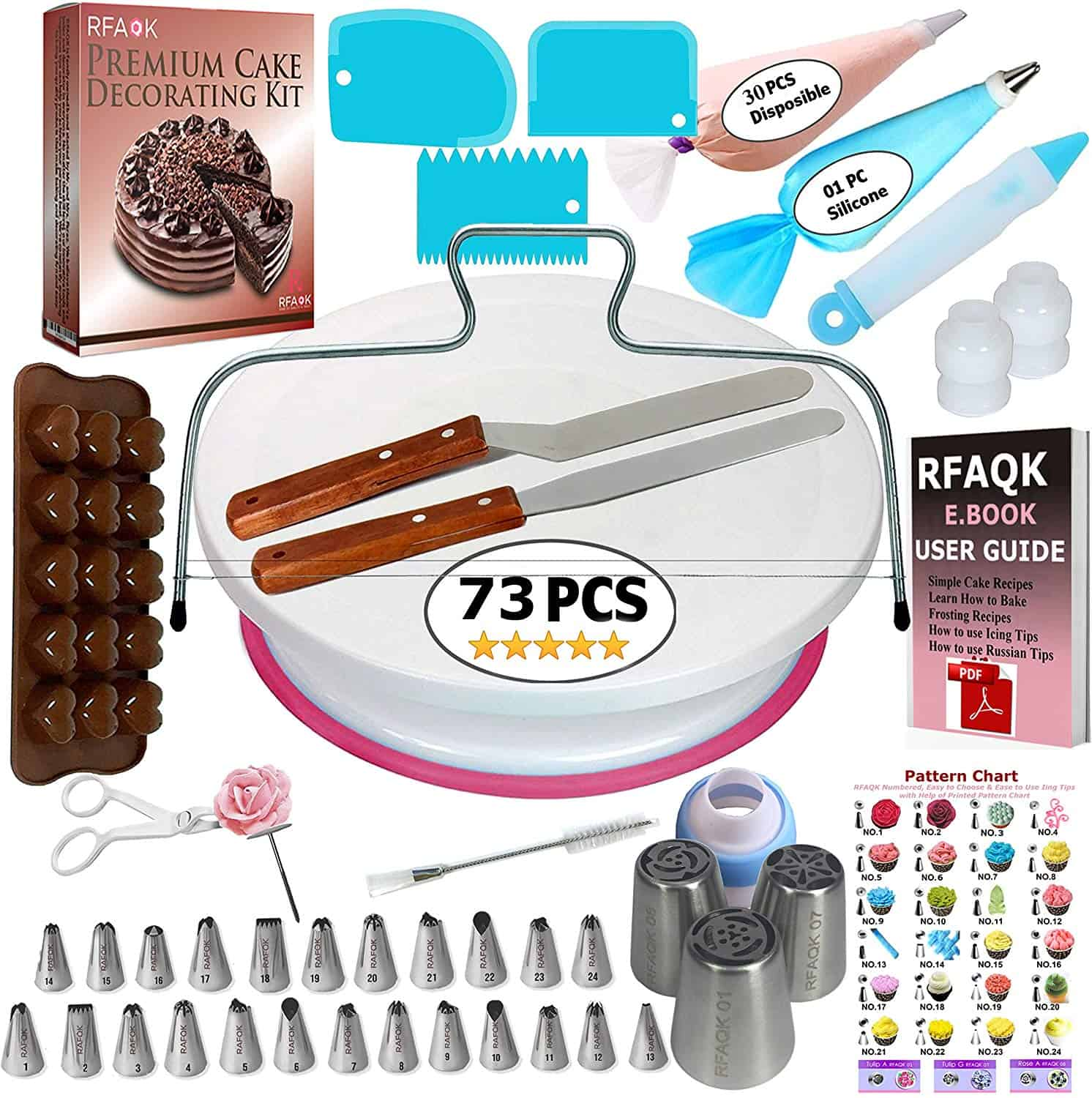 Rfaqk 73 piece decorating kit (for beginners)