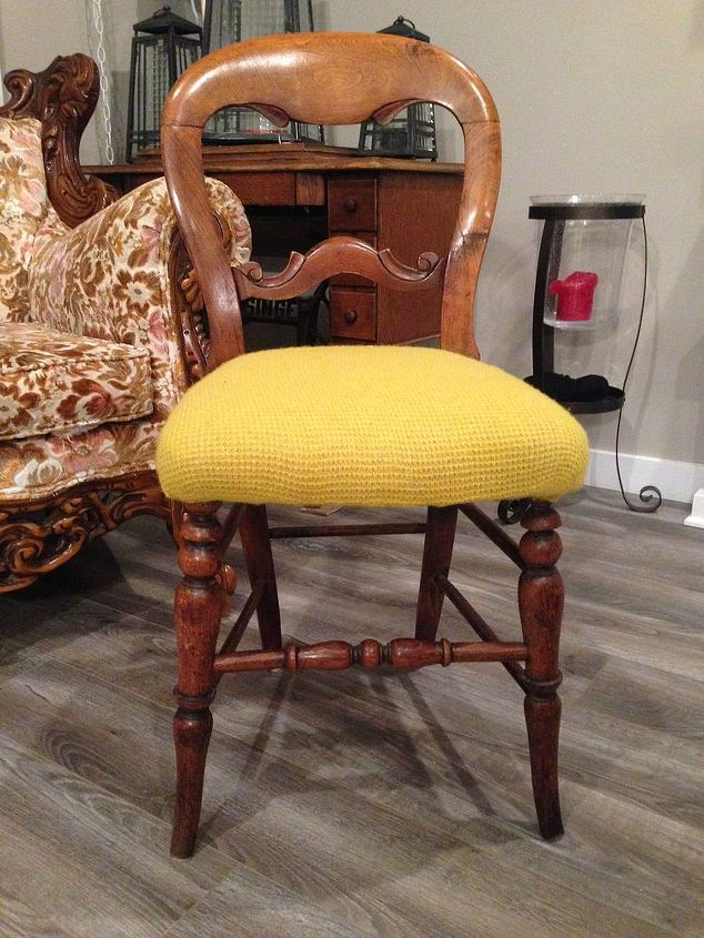 Re upholstered sweater chair
