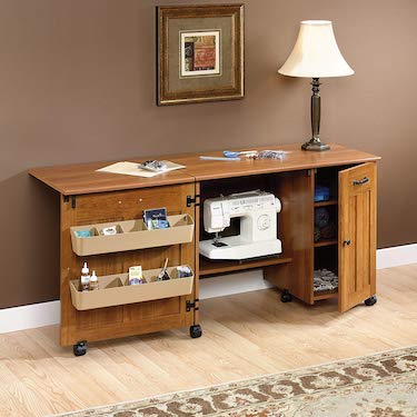 Sewing and craft center folding table by mainstay