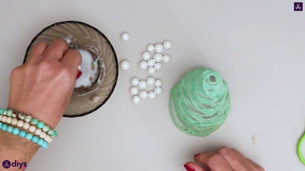 String art christmas tree beads