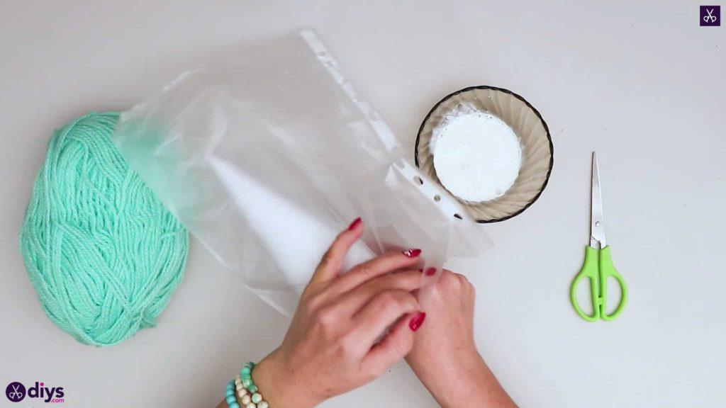 String art christmas tree plastic bag