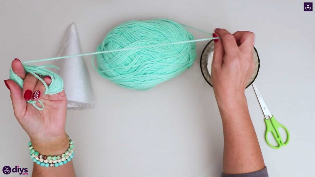 String art christmas tree string