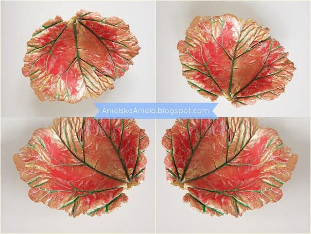Stunning diy detailed leaf bowl