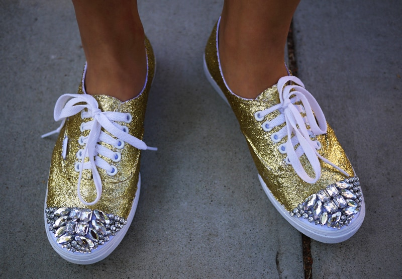 Super sparkly glitter and rhinestone shoes