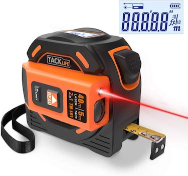 Tacklife tm l01 2 in 1 laser tape measure