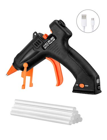 Topelek cordless hot glue gun kit