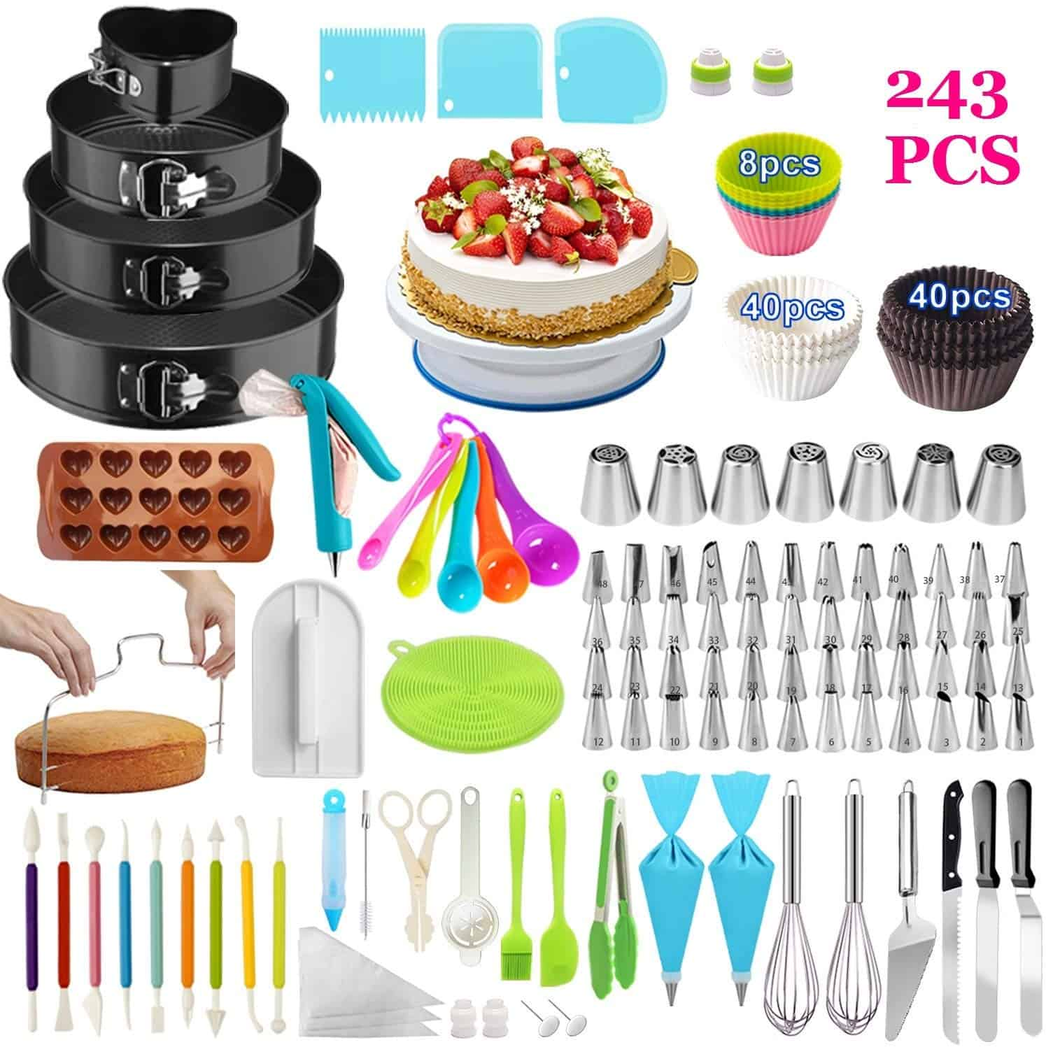 Taiker 243 piece cake decorating kit