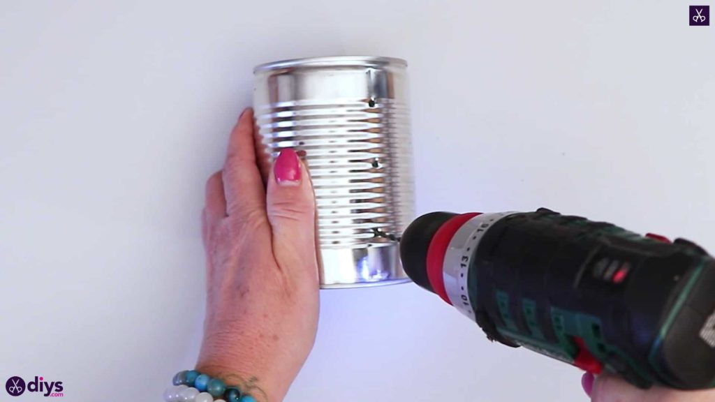 Tin can mood lamp drill