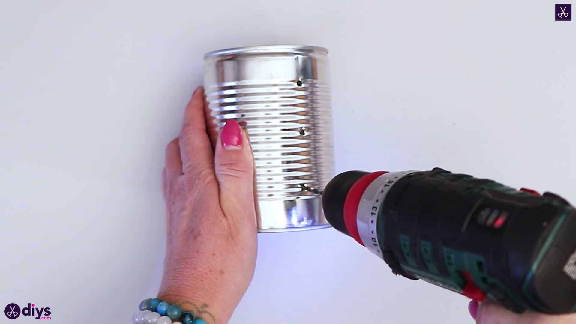 Tin can mood lamp drill