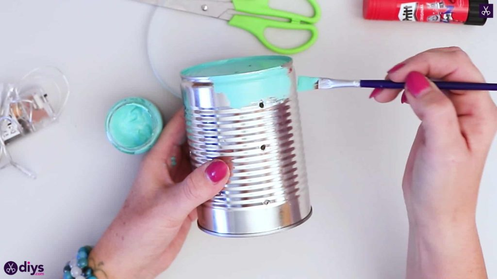 Tin can mood lamp paint all can