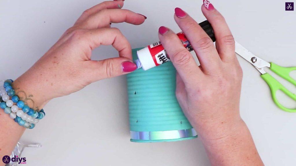 Tin can mood lamp prepare ribbon