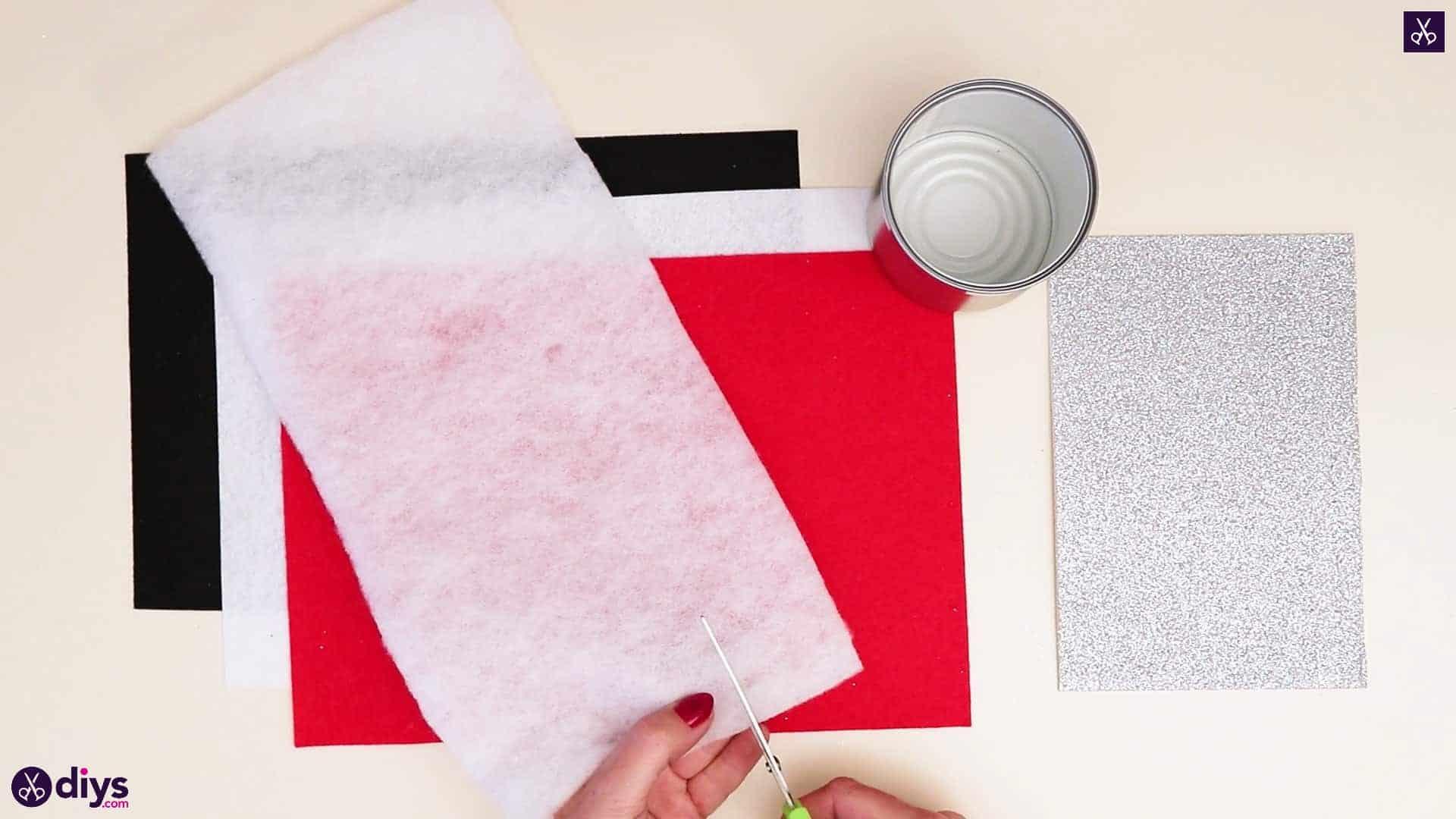Tin can santa candy holder cutting process