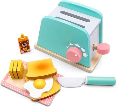 Tiny land toy kitchen wooden pop up toaster play set