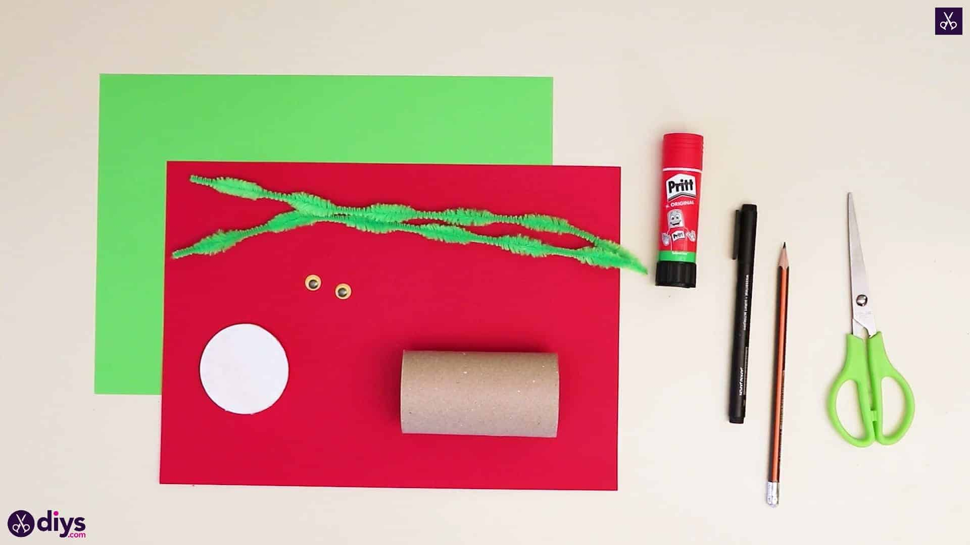 Toilet paper roll grinch materials