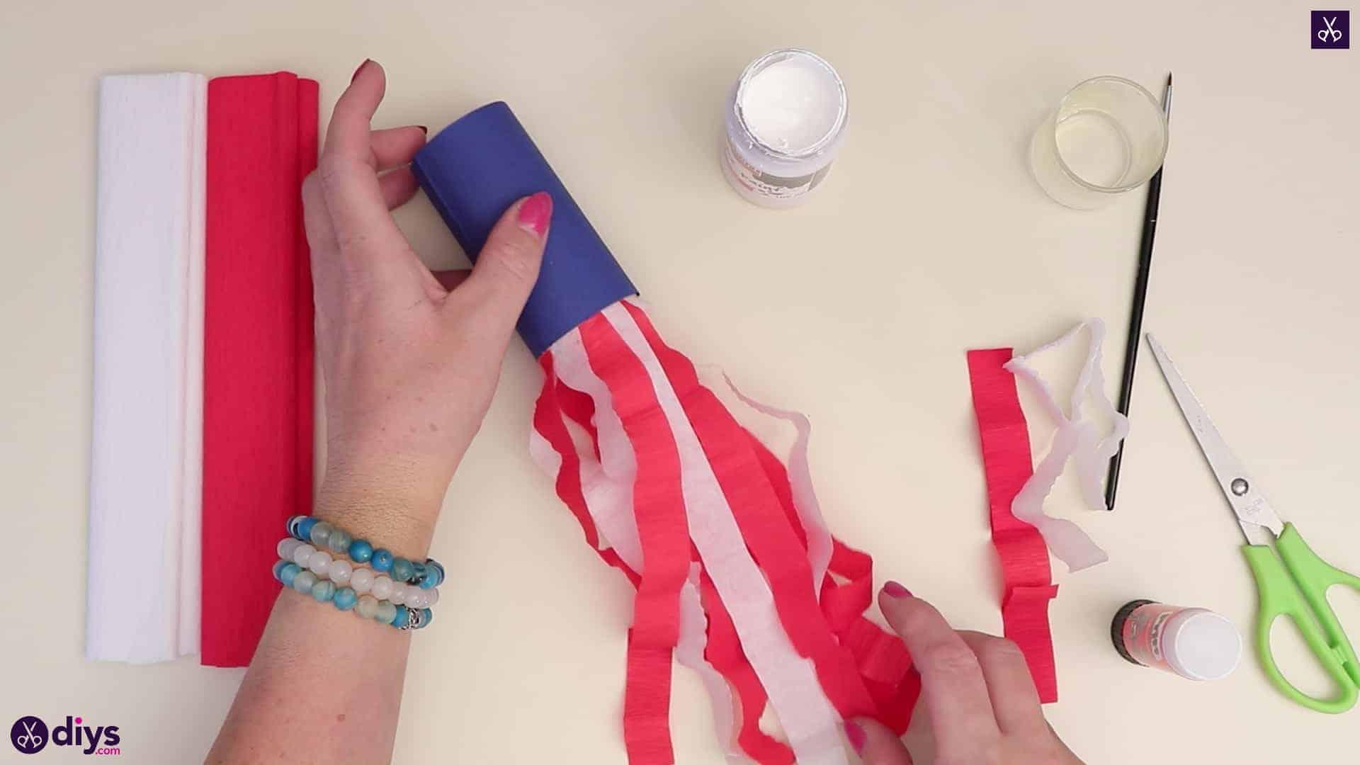 Toilet paper roll patriotic blower bottom