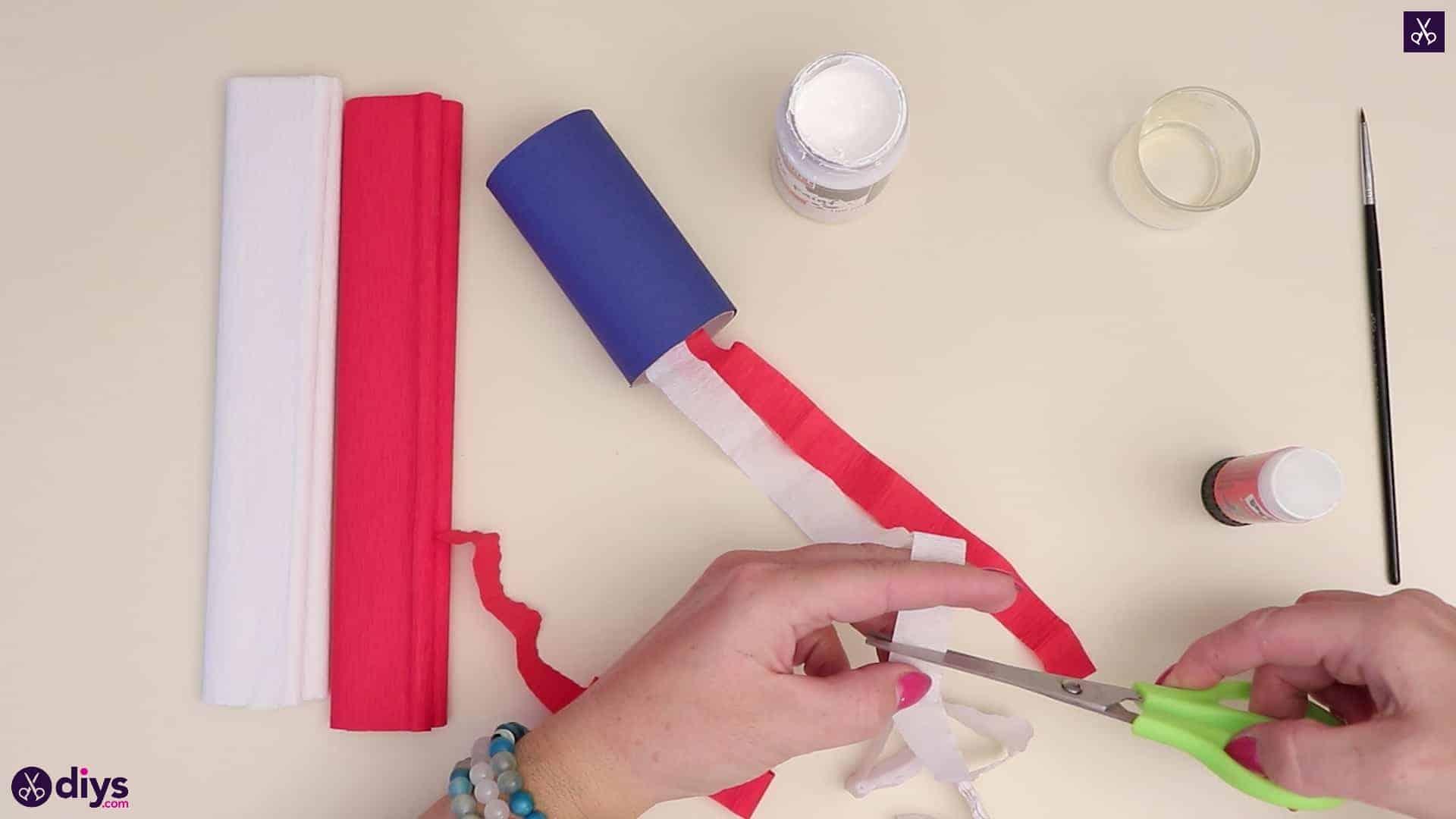 Toilet paper roll patriotic blower cut